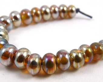 Set of Twenty Extra Extra Micro Aurae Handmade Glass Beads