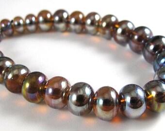 Set of Twenty Five Micro Aurae Handmade Glass Beads