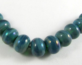 Set of Twelve Micro Gaia Handmade Glass Beads