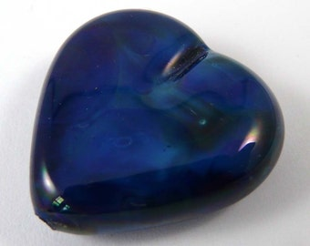 Free Shipping for this Handmade Kronos Glass Heart Focal Bead