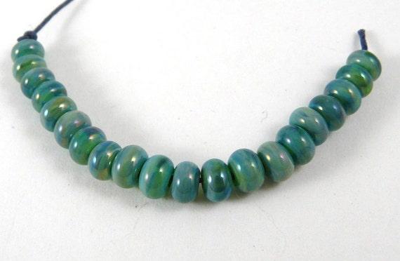 Set of Twenty Extra Extra Micro Gaia Handmade Glass Beads