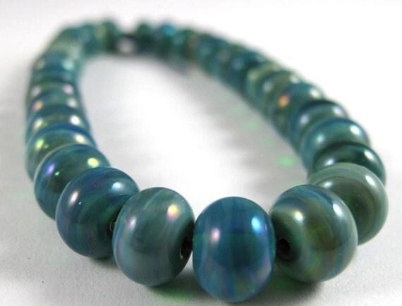 Mega Set of Thirty Micro Gaia Handmade Glass Beads