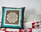 La Petite Ecole alphabet pillow cover No. 3