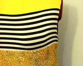 Mixed Print Stretch Knit Tank Dress Plus Size 20 2X