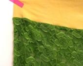 green lace gauchos pantaloons cropped lingerie pants Plus Size 3X