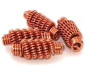 Copper Coiled Wire Beads