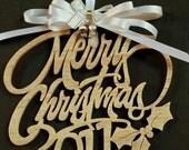 2011 Natural Wood Christmas Ornament