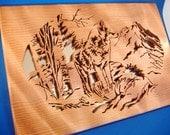 Timberwolf in Redwood