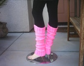 Hot Pink knitted legwarmers