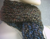 Knitted Scarf in Earthtones 2