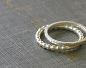 silver stacking rings- set of two