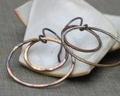brass double hoops