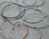 FLASH SALE- ORIG 26.00 extra large verdigris oval hoops