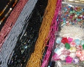 Many Different Beads in Various Colours and Shapes