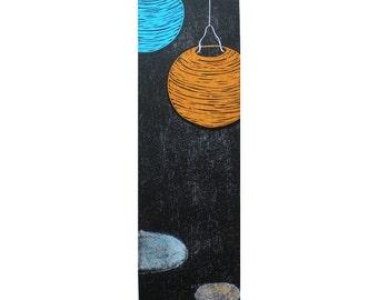 Shoji Lanterns woodblock print