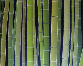 Bamboo Forest Huge 3'X5' Original Woodblock Print