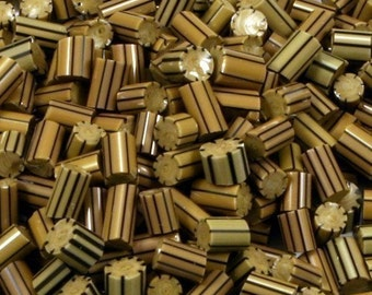 Lampwork Murrini Chips -Striped Raku -104coe - 5 grams