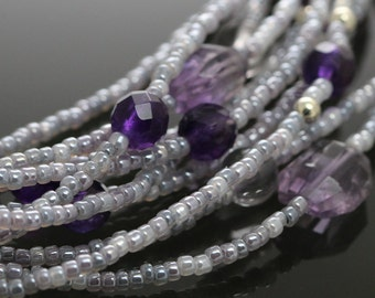 CLEARANCE 5-Strand Amethyst Splendor Necklace nm022