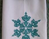 snowflake towel