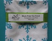 CYBER MONDAY snowflake tea towel