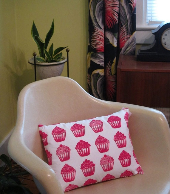 Limited Edition color cupcake pattern accent sham pillow