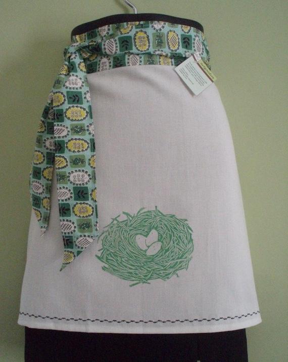 block print nest apron