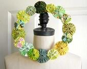 Fabric Wreath - Greens