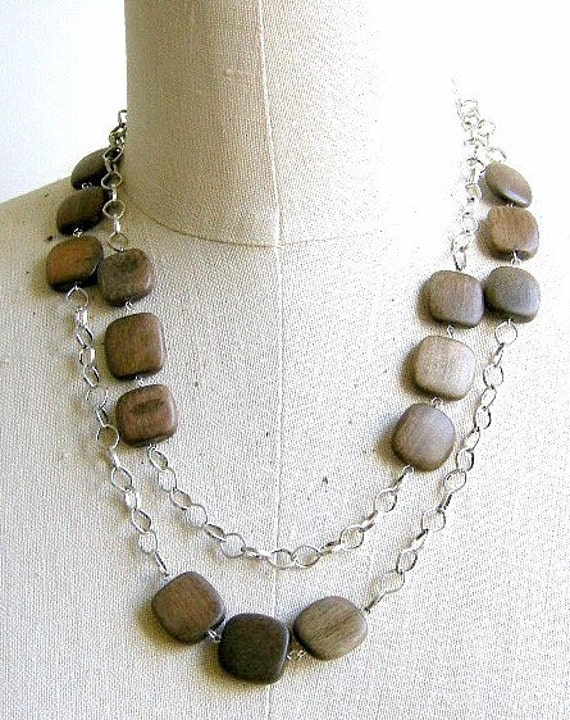 Wooded Path - long necklace