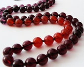 Long Ripe Berries Necklace - Red, Orange and Purple