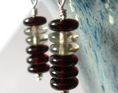 Itty Bitty Stacked Earrings - Cranberry
