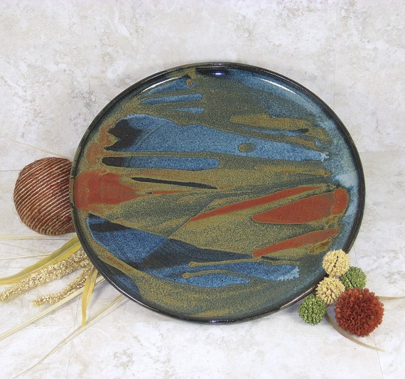 Medium Platter Handthrown Stoneware Pottery 3