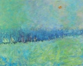 Misty Daydreams 3x5 FEET - Original Acrylic on a Extra Large Canvas by Patty Baker