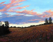 Tilled Fields at Dawn- Abstract, Huge Contemporary Acrylic on a Extra Large Canvas Commissioned Painting by Patty Baker