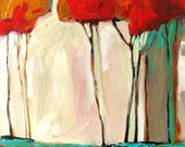Tall Autumn Trees- Abstract, just for Rosetta