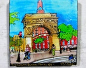 Print on Canvas Washington Square Park Arch Greenwich Village, NYC, PJ Cobbs Arts Giclee, Art, Summer, NYU, Downtown