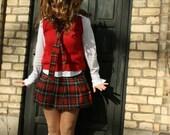 Scottish skirt and tie