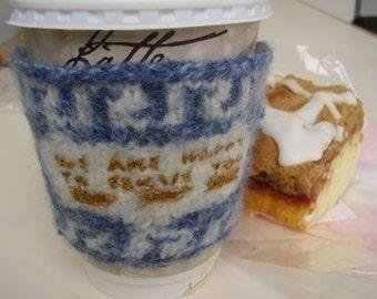 PATTERN - Greek Deli Cup Coffee Cozy