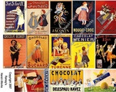 Digital Collage Sheet of Chocolate Ads - U-Print - JPEG - Downloadable