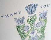 Floral Thank You cards, set of four