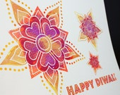 Happy Diwali Notecards, set of 4