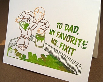 To Dad, my favorite Mr. Fixit notecard