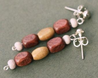 Wood Bead Earrings
