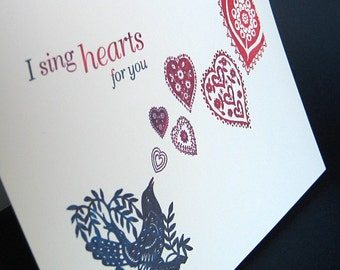 Heartsong Notecard and envelope