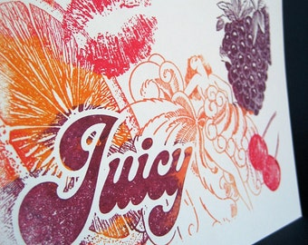 Juicy Notecard and envelope