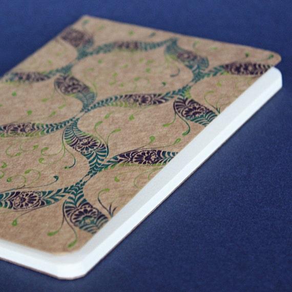 Peacock Nouveau Pocket Moleskine Notebook