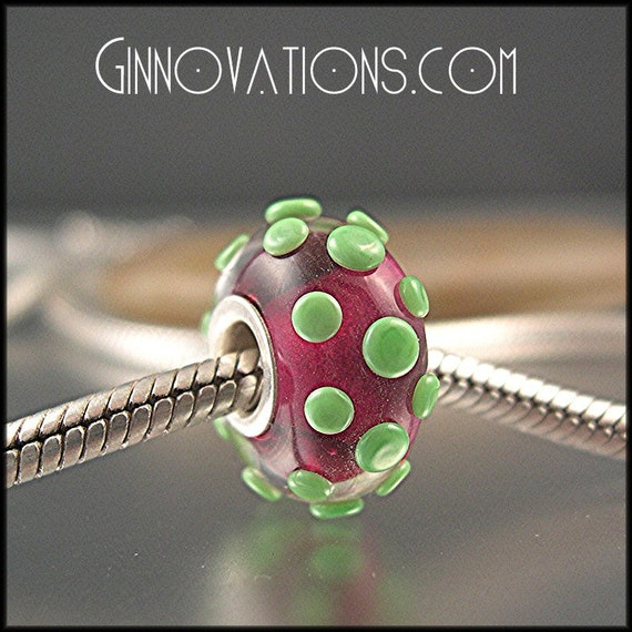 Ginnovations lampwork, Preppy Girl sterling cored bead