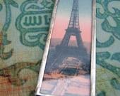 Eiffel Tower Soldered Glass Ornament