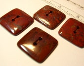 Unique Red Jasper Square Gemstone Button (1)