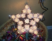 Vintage Christmas star tree topper