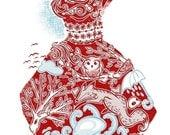 Red Dress - Original Screen Print